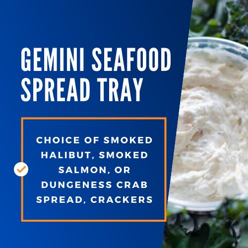 gemini seafood spread tray