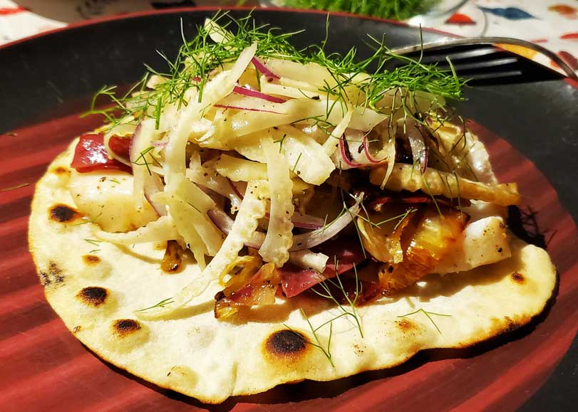 True Alaskan Cod Fish Tacos with Fennel and Pancetta